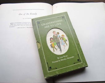 Vintage Gift Book Set ~ 1960's Grandparents Are To Love ~ Box Set ~ Vintage Children's Books, Family Sentiment Love Empathy, Cloth Hardcover