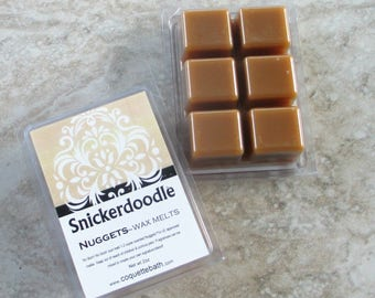 Snickerdoodle scented wax melts, warm bakery scented traditional wax, no burn home scenting, cinnamon cookie scented wax melts