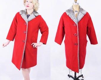 Red coat | Etsy