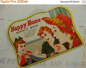 ONSALE Antique Needle Book Happy Home 117