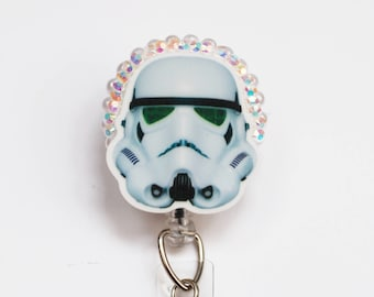 Star Wars StormTrooper ID Badge Reel - Retractable ID Badge Holder -Zipperedheart