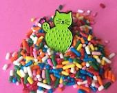 Catcus enamel pin, Cactus Cat pin , catcus pin, cute cat pin, soft enamel pin, lapel pin badge, kitten pin, cactus pin, HibouDesigns