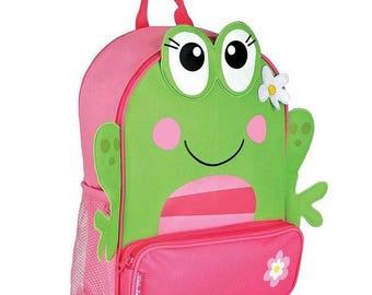 Personalized Stephen Joseph Sidekicks Frog Backpack