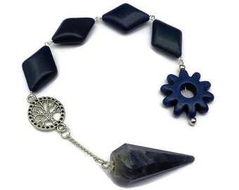 Summer Sale Blue Aventurine Pendulum Pendant Meditation, Throat Chakra, Third Eye Chakra, Dowsing, Scrying, Goddess Stone, Chakra Stone, Cel