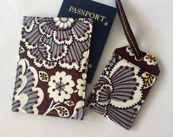 Passport Cover Luggage Tag Travel Set, Travel Essentials, Gift for Her, Boho Chic  limited edition