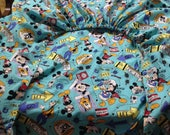 Custom order for briankatrina - 3 Fitted Sheets for childrens' nap mats - custom size  - you provide the fabric - custom - made to order