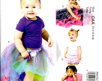 Sewing Pattern - McCalls 6636 -  Baby Toddler Skirts and Shorts - Sizes 1/2-1-2-3-4 - Toddler Tulle Skirt - Toddler Netting Skirt
