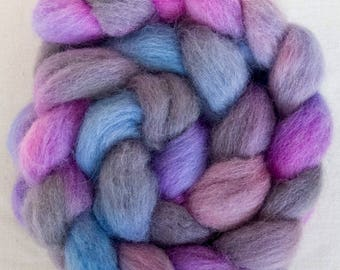 Hand dyed roving, Perendale, Handspinning, felting projects, fibre, felting materials, combed tops, spinning wool, hand dyed Perendale