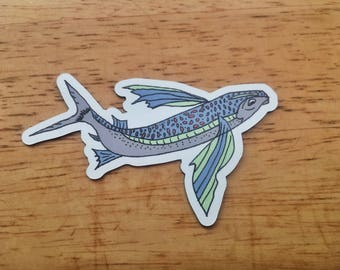 Flying Fish Mini Magnet - Outdoor Magnet - Environmental Magnet - Fishing Magnet - Fishing Gift - Outdoor Gift - Outdoor Magnet - Eco Magnet