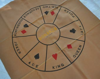 Bonanza Game Board on Printed Faux Leather/Vintage 1960s/Retro Wall Hanging/Dorm Room Decor
