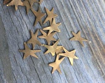 vintage brass stars 20 pieces