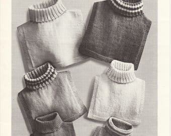 Vintage knitting pattern - Tuck-ins for the family by Beehive Pattern All Sizes