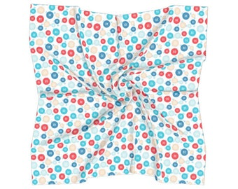 Buttons Square Scarf - Free shipping USA and Canada
