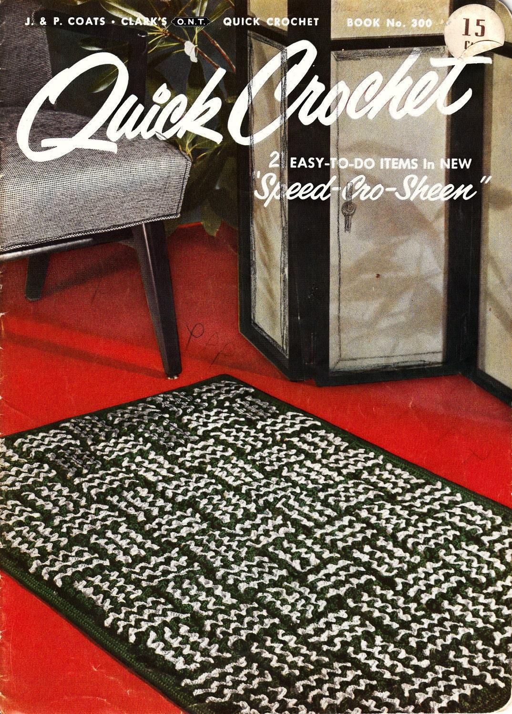Rug free crochet pattern