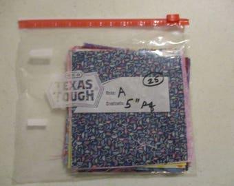 """Scrap Bag, 5"""" Squares, Scraps -- A"""