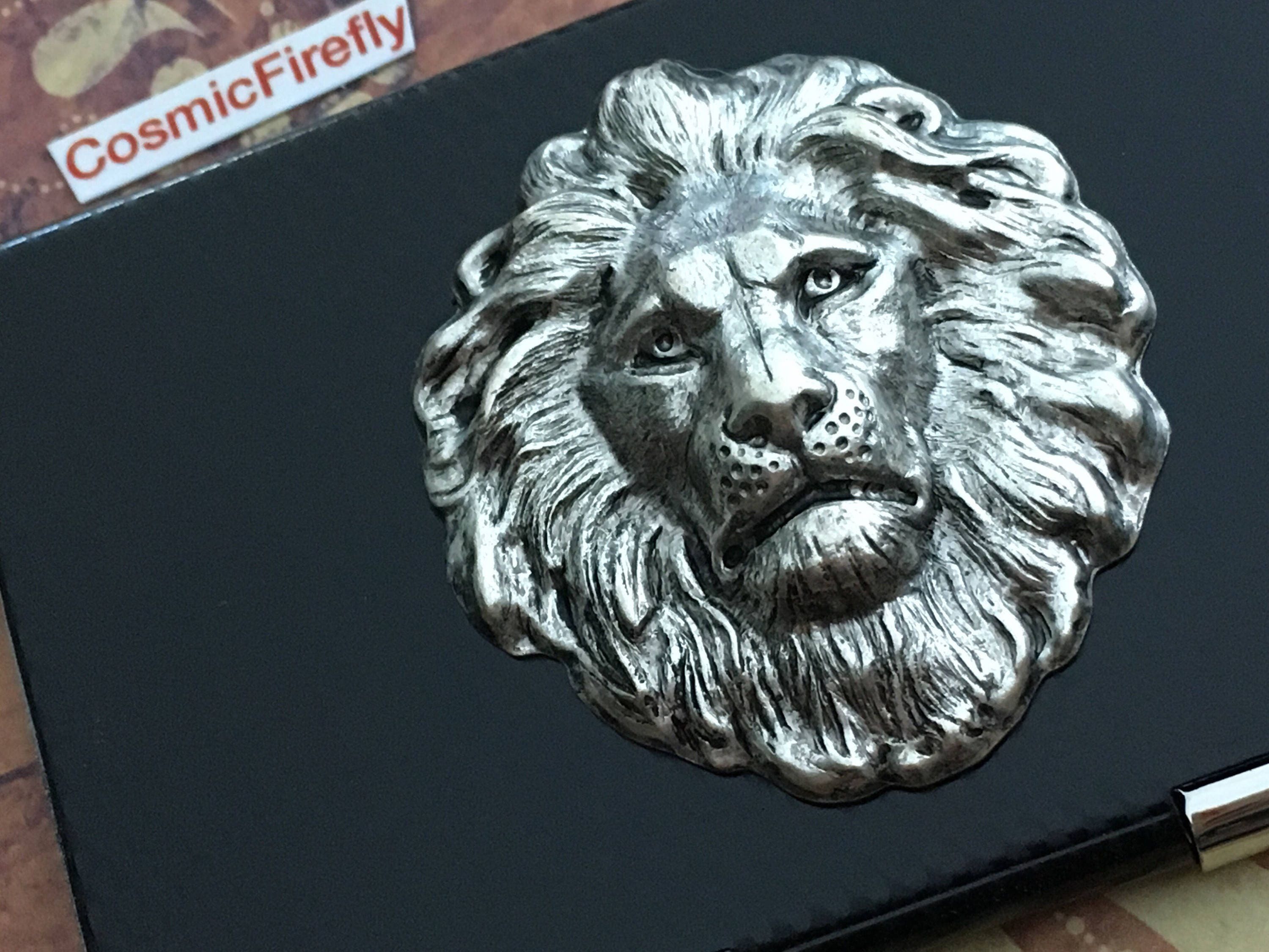 Leo lion business card case silver black carbon fiber style leo lion business card case silver black carbon fiber style industrial steampunk card case mens magicingreecefo Gallery