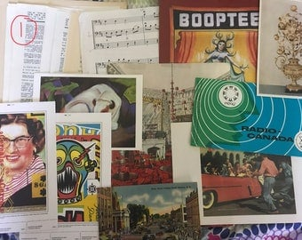Vintage Antique Paper Ephemera Asian Dictionary Encyclopedia Postcards French Paper Co.