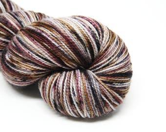 """Acoustic Sock Yarn - """"Whiskey and Wine"""" - Handpainted Superwash Merino - 400 Yards"""