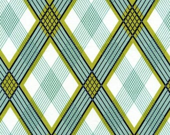 Sale!  Picnic Plaid in Pond (JD40-Pond) - by the piece 1 yard 17-inches
