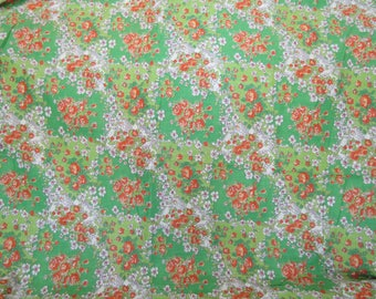 Vintage floral cotton 1 1/4 yard x 35 inches more available