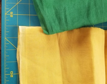 Vintage Cotton Organza Goldenrod Yellow aprox  2/3yd