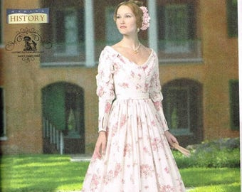 On Sale Civil War Day Dress CSewing Pattern Cosplay Reenactment Costume Butterick 5832 Misses Size  6 8 10 12 14  Bust 30.5 31.5 32.5 34 36