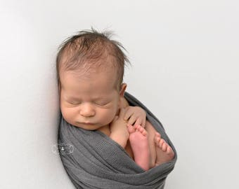 Gray Newborn Photo Prop, Stretch Knit Baby Wraps, Photography Props, Baby Photo Props, Newborn Props, Newborn Boy Props, Elephant Gray Lux