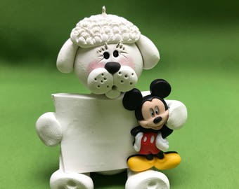 Dog with Mickey Mouse