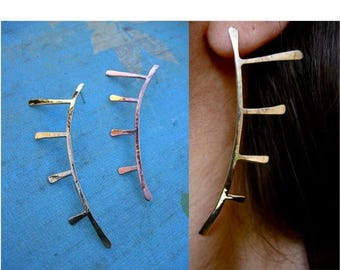 End of Summer SALE Art Deco lines in Copper, Bronze or Sterling