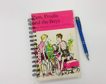 Recycled Book Journal, Pam, Prudie and the Boys