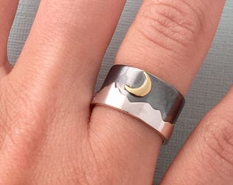 Mountain Moon ring
