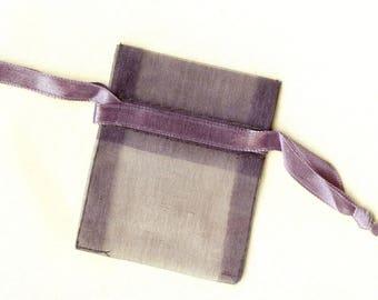20 x ORGANZA SACHETS ❀ ANTHRACITE 5x6.25cm MAT0511 ❀