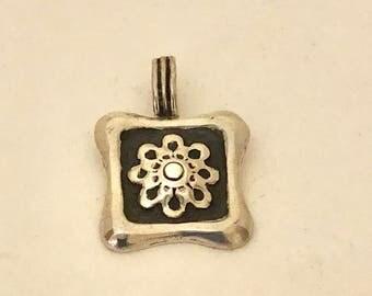 Square Flower Pendant