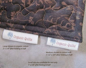 Long Thin Labels. Perfect for Pillows, Quilts, Placemats and Clothing