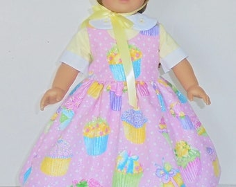 Colonial Easter Dress designed for American Girl Felicity,Elizabeth or Kirsten 3 pc.. No. 709