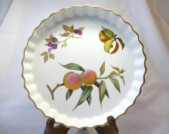 Superb Vintage Evesham Dish, Royal Worcester, Fine Porcelain, Made In England, Oven  To