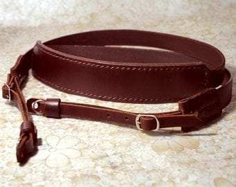 Personalize Leather Camera Strap Custom Leather Camera Strap Artisan Leather camera Strap Classic Leather Strap in Brown Color
