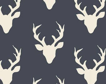 Hello, Bear, Custom Listing, Fabric, Buck Forest, Twilight, Navy, Midnight, Blue, Stag, Antlers, Rustic, Modern, Baby, Boy, Unisex, Girl