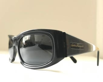 Salvatore Ferragamo SunGlasses Italian Designer Sunglasses Eyeglasses Frame Logo Signature Wayfarer Rectangular Superstar