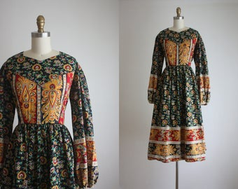 bohemia print dress