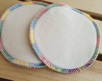 NURSING PADS, 100% Organic Cotton/Organic Cotton Velour - 2 pair (Mama, pad, nurse, breastfeeding, shower, gift, new, mom, baby, sprinkle)