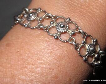 Denmark 830S Silver Link Bracelet 22g Maker Mark