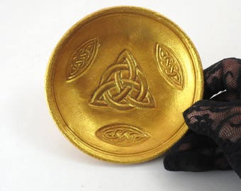 Goddess Pottery Triquetra Handmade Ceramics Decorative bowl