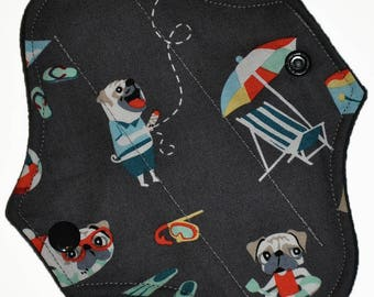 Liner Core- Pug Life Reusable Cloth Petite Pad- WindPro Fleece- 6.5 Inches
