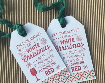 Wine Christmas Tags (set of 6)