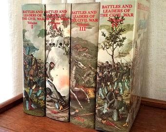 Vintage Books Battles and Leaders of the Civil War 4 Volume Set Hardcover Box Set