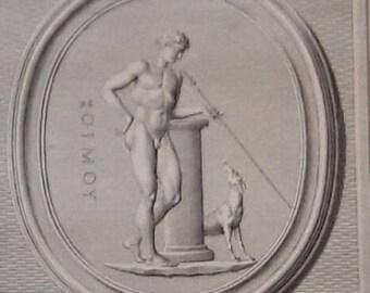 1724 Antique Print of Adonis