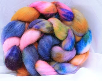 Hand painted polworth 4 oz 115 grams #18