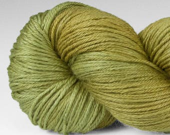 Handpainted Yarn, Merino Silk 50/50, Lambent, Fingering Wt, 100 g, Wolf Lichen