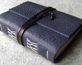 """Leather journal, 4"""" x 6"""", vintage style diary, travel journal, leather sketchbook (2616)"""